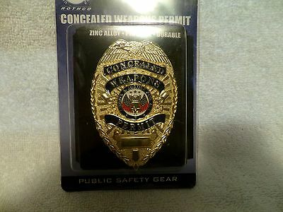 Co Closed selling out stock-Gold Concealed Weapons Permit Badge-NEW