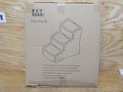 Pet Gear Easy Step III Pet Stairs, 3-Step for cats and dogs, OPEN BOX