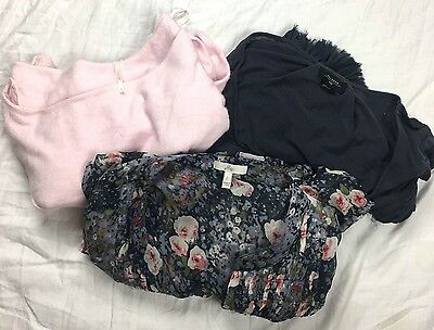 Lot of 3  Tops Anthropologie Joie Free People Delete Womens Blouses Sz Large