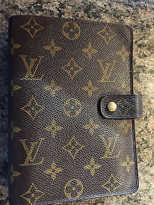 Authentic Louis Vuitton Monogram Mm Agenda.... Lv Stickers, Map, Ruler Included