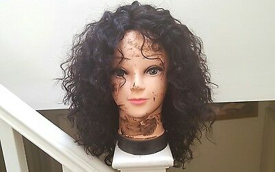 Virgin Remi Human Hair Lace Wig Body Wave 12-14 inches 1B