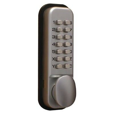 Securikey Lockit Mechanical Push Button Digital Lock Chrome DXLOCKITHB/C