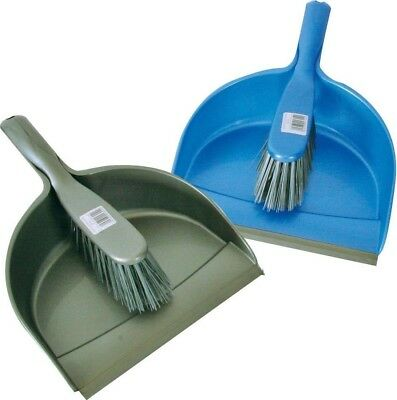 Quest Leisure - Assorted Dust Pan and Brush - Green / Blue