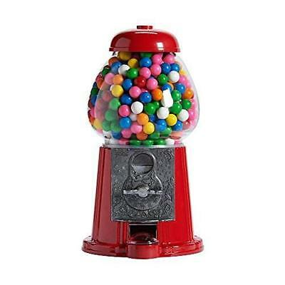 """Gumball Machine Medium Gumball Bank, 12"""" Vintage Style Candy Dispenser Red NEW"""