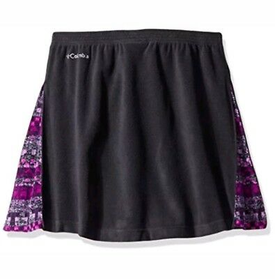 Columbia Girls' Glacial Fleece Skirt - Black / Purple - Youth Large $36 NWT