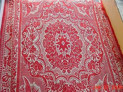 1861 Ephraim Hausman Woven Coverlet Show Piece Only. Pristine Condition