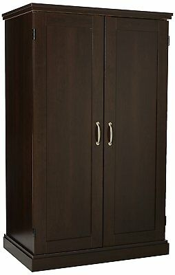 Computer Armoire Desk Office Furniture Home Cabinet Storage Hutch Wood Space
