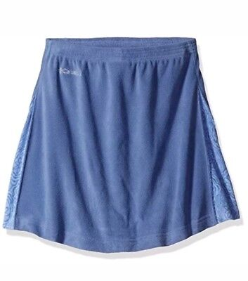 Columbia Girls' Glacial Fleece Skirt - Blue Bell Roses - Youth Large $36 NWT