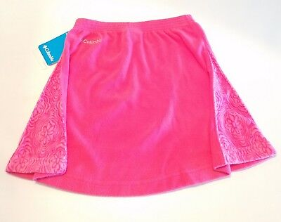 Columbia Girls' Glacial Fleece Skirt - Pink Floral - Youth Small $36 NWT