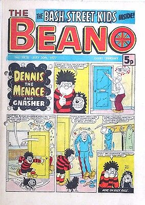 THE BEANO - 30th JULY 1977 (28 July - 3 August) - RARE 40th BIRTHDAY GIFT !! VG+