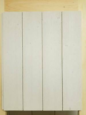 """SHIPLAP - 6"""" x 8' LONG - WHITE - Prefinished Factory Seconds with Nickel Gap"""