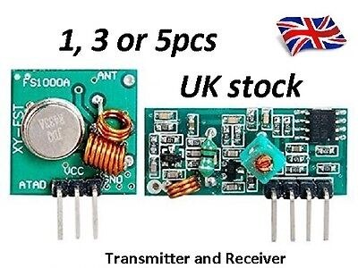 1,3 or 5 Pairs 433 Mhz RF transmitter and receiver kit DC5V for Arduino super
