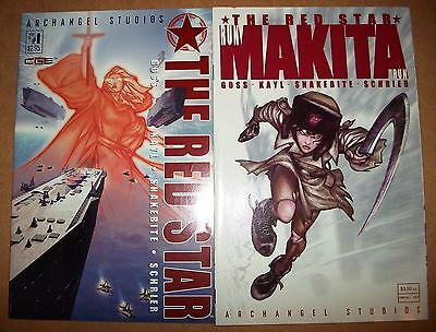 2 lot The Red Star Archangel Goss #1 Annual #1 2002 CG Storm of Souls Kayl Comic