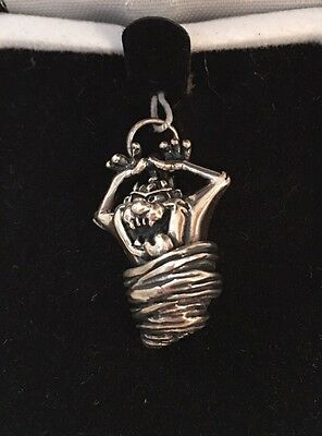 LIMITED EDITION Warner Bros Looney Tunes Taz Sterling Silver Charm RARE NEW