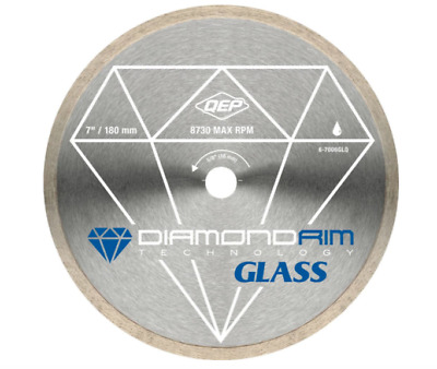 QEP 7 in. Glass Tile Diamond Blade for Wet Tile Saws Blade Cutting Power Tool