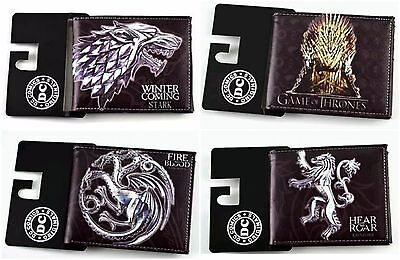 GAME OF THRONES Bifold Faux Leather Wallet Mens Womens GOT Gift Cult TV