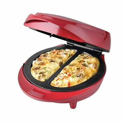 Non-Stick Electric Double Omelette Maker Red.