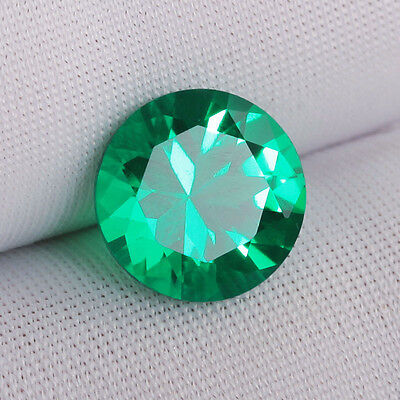 Hydrothermal Emerald Green Loose Diamond 3Mm Fast & Free Delivery - Limited