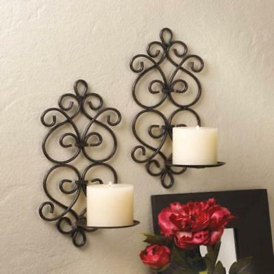 AEWH-10015959-Iron Scrolled Wall Sconce Pair