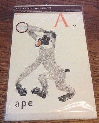 "Martha Stewart Crafts 26 Animal Vintage Inspired Alphabet Cards - 6.75"" X 10.5"""