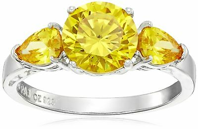 LAB CREATED ROUND YELLOW DIAMOND 5 - 7mm FAST & FREE DELIVERY!! LIMITED