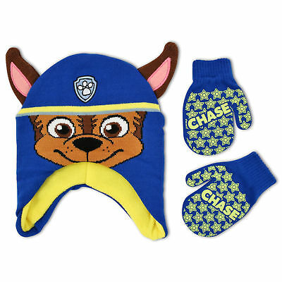Nickelodeon Paw Patrol Hat and Mitten Cold Weather Set, Toddler Boys, Age 2-4