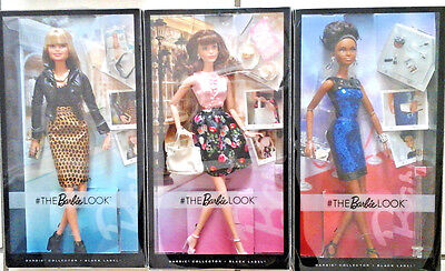 New Set Of 3 Barbie The Look African America, Brunette, Blonde Collectors
