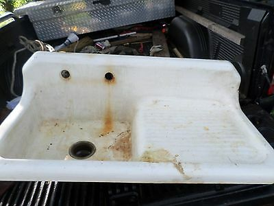 Antique Kitchen Farm Sink with Drainboard