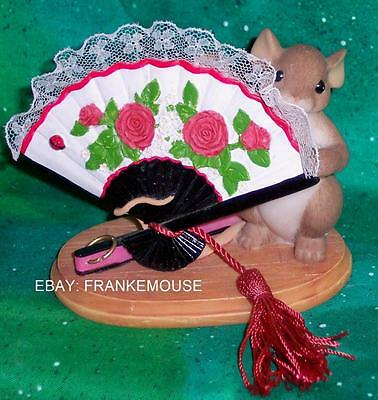 Retired Fitz And Floyd Charming Tails I'm Your Biggest Fan Mouse Figurine 89/270