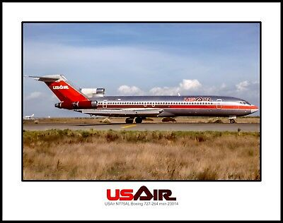USAir Airlines Boeing 727 11x14 Photo (I215RGSO11X14)