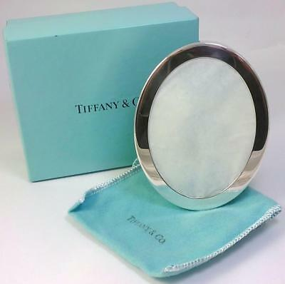"""Vintage Sterling Silver-fronted 4"""" (10.2cm) Tiffany Photo Frame in Gift Box"""