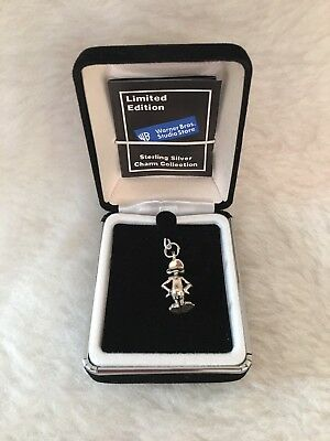 LIMITED EDITION Warner Bros Looney Tunes Daffy Sterling Silver Charm NEW RARE