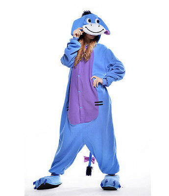 Unisex Adult Pajamas Kigurumi Cosplay Costume Animal Onesi (Donkey S)