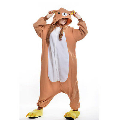 Unisex Adult Pajamas Kigurumi Cosplay Costume Animal Onesi (Rilakkuma M)
