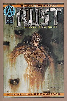 Rust #1 - (8.0 / VF) - 1st Spawn Ad - (Apr 1992, Malibu)