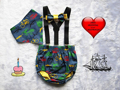 Baby boys smash cake outfit, smash cake outfit, 1st birthday outfit,Boys diaper
