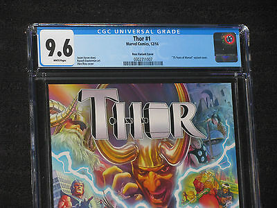 THOR 1 CGC 9.6 NM+ Alex Ross Variant HTF MOVIE