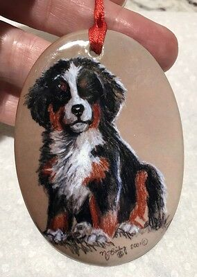 Bernese Mountain Dog hand painted? Christmas Ornament