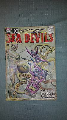 Sea Devils comics #1 #2 #3 #4 DC silver age some missing covers or detached