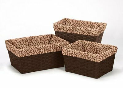 Set of 3 One Size Fits Most Basket Liners for Cheetah Girl Bedding Sets by Sweet