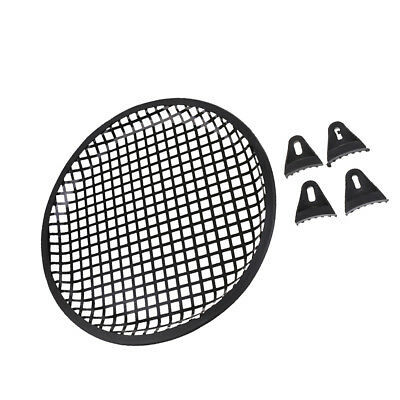 "10"" Car Speaker Mesh Sub Woofer Subwoofer Grill Dust Cover w/ Mounting Clips"