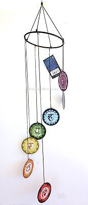 Chakra Wind Chime Metal Garden Hanging Mobile 7pc