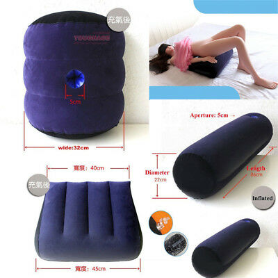 Inflatable Sex Pillow Aid Cushion Bolster Love Position Furniture Couple Game