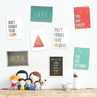 The Rules Mini Collection 5x7 Wall Art Prints, Typography, Nursery Decor, Kid's