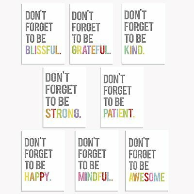 Don't Forget Mini Collection 5x7 Wall Art Prints, Typography, Kid's Wall Art Art
