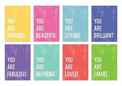 You are Mini Collection 5x7 Wall Art Prints, Typography, Nursery Decor, Kid's