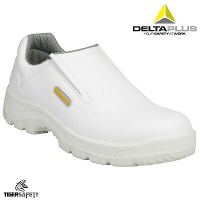 Delta Plus Panoply Robion S2 SRC White Mens Steel Toe Cap Food Safety Shoes PPE