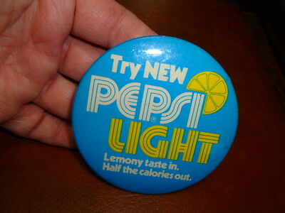 Vintage Pepsi Light Lemony Cola Pin Button