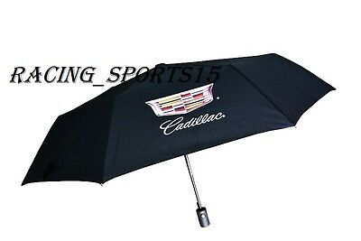 NEW CADILLAC RACING Automatic Travel Umbrella Auto Open Close Compact Folding