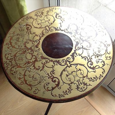 antique table Brass Inlay